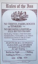 Rules Of The Inn Galley Cloth  / Tea Towel